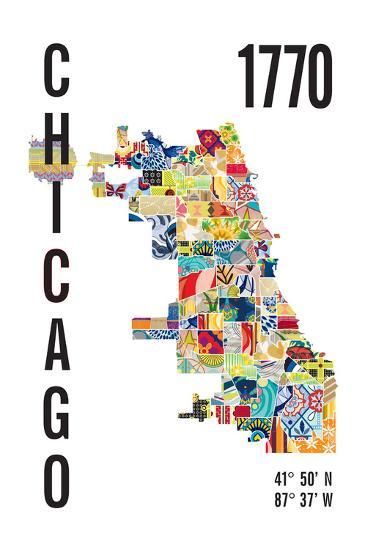Chicago-J Hill Design-Giclee Print