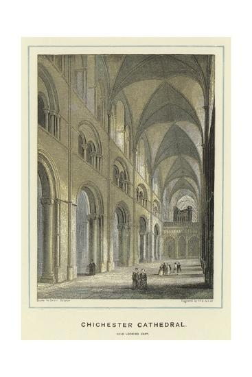 Chichester Cathedral, Nave Looking East-Hablot Knight Browne-Giclee Print