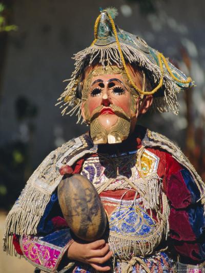 Chichicastenango, Dance of the Conquistadors, Guatemala, Central America-Upperhall Ltd-Photographic Print