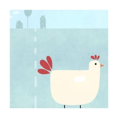 Chick on Farm--Art Print