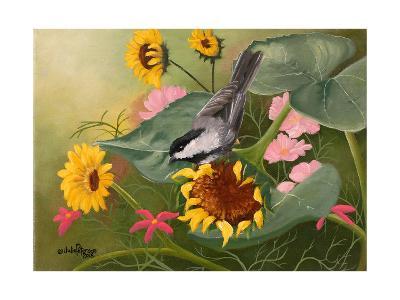 Chickadee and Sunflowers-Julie Peterson-Art Print