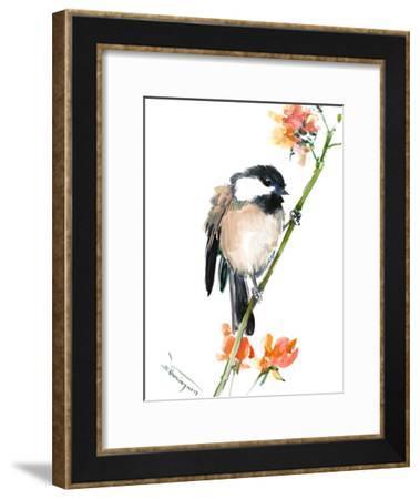 Chickadee Bird-Suren Nersisyan-Framed Art Print