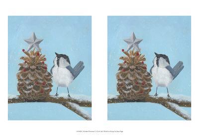 Chickadee Christmas II 2-Up-Grace Popp-Art Print