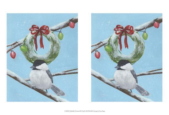 Chickadee Christmas III 2-Up-Grace Popp-Art Print