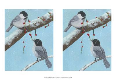 Chickadee Christmas IV 2-Up-Grace Popp-Art Print