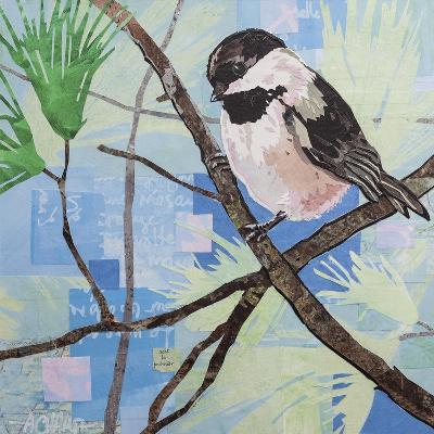 Chickadee Collage II-Alyson Champ-Art Print