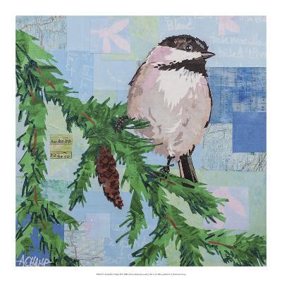 Chickadee Collage III-Alyson Champ-Art Print