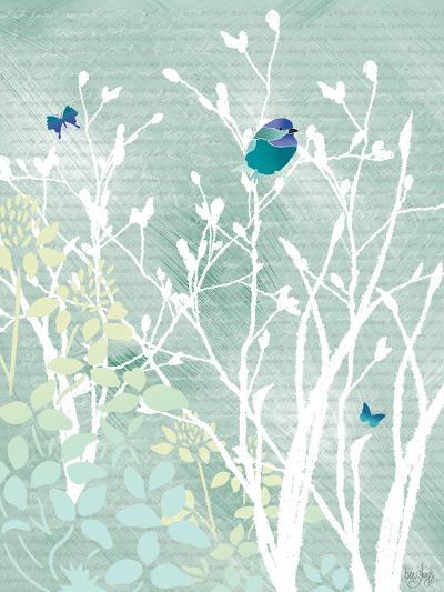 Chickadee on White Branches-Bee Sturgis-Art Print