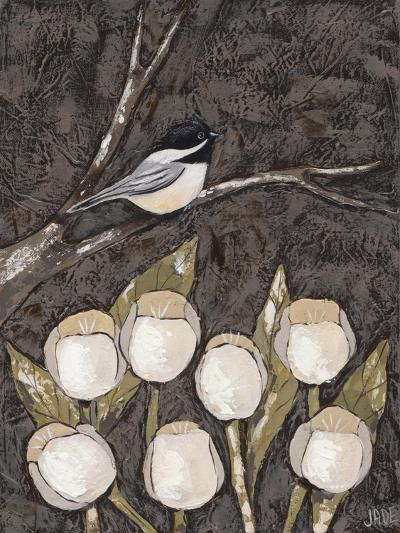 Chickadee & Tulips I-Jade Reynolds-Art Print