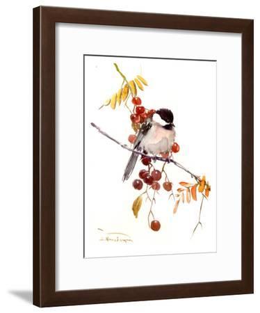 Chickadee-Suren Nersisyan-Framed Art Print