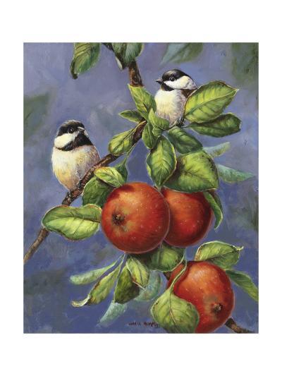 Chickadees and Apples-Wanda Mumm-Giclee Print