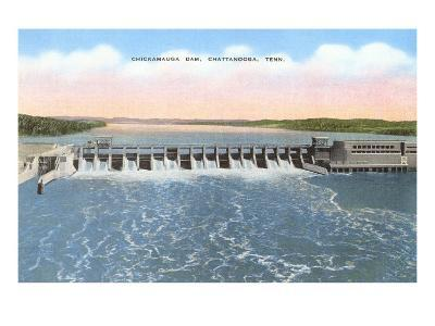 Chickamauga Dam, Chattanooga, Tennessee--Art Print