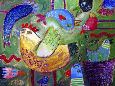 Chicken-A-Go-Go-Sara Catena-Giclee Print