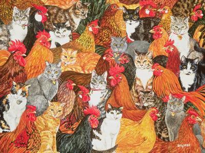 Chicken-Cats-Ditz-Giclee Print