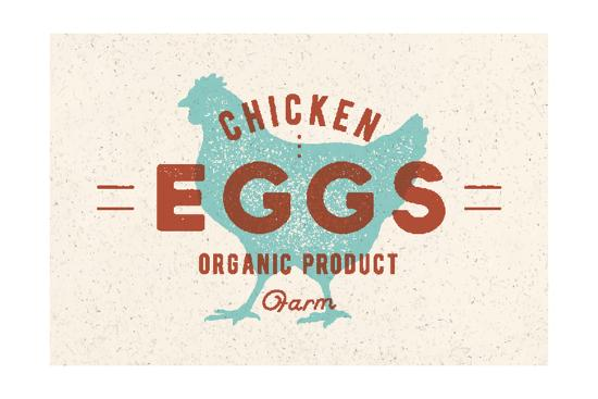 Chicken Eggs - Vintage-foxysgraphic-Art Print