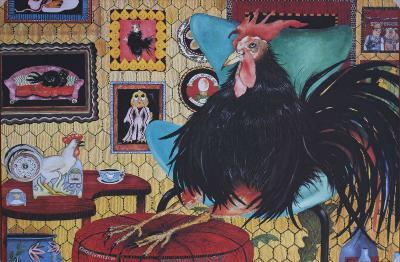 Chicken Kitsch-Carol Grigg-Art Print