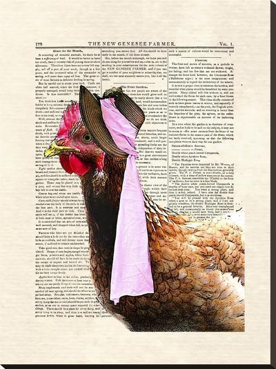 Chicken Lady-Matt Dinniman-Stretched Canvas Print