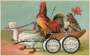 Chicken Wagon Pulled by Duck