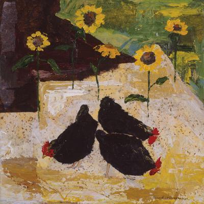 Chickens and Sunflowers-Anuk Naumann-Giclee Print