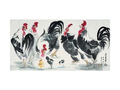 Chickens Bring Luck-Guozen Wei-Giclee Print