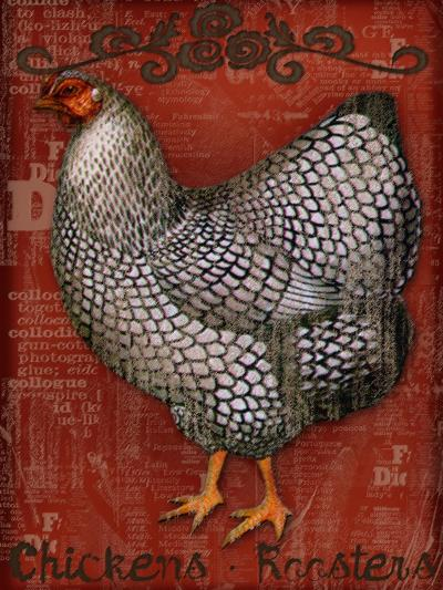 Chickens & Roosters-Kate Ward Thacker-Giclee Print
