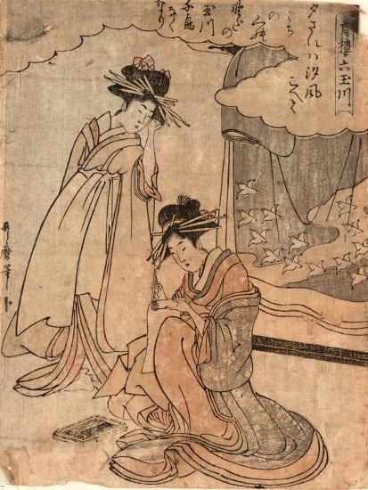 Chidori No Tamagawa-Kitagawa II Utamaro-Giclee Print