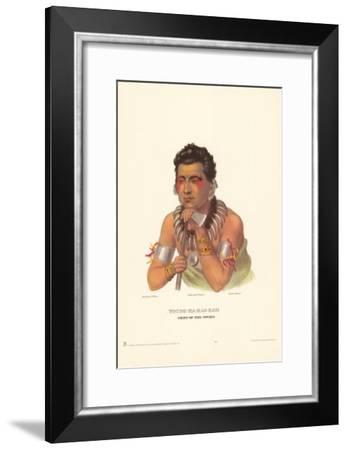 Chief of the Ioways-Charles Bird King-Framed Art Print