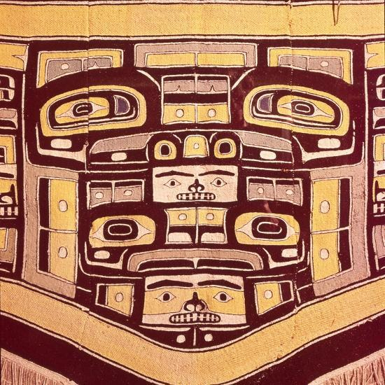 Chief's Blanket with Bear Design, Totemism,Tungit Tribe, Pacific Northwest Coast Indians-Unknown-Giclee Print