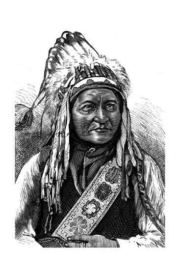 Chief Sitting Bull, American Indian, 19th Century--Giclee Print