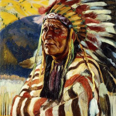Chief Thundercloud-Walter Ufer-Giclee Print