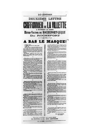 Chiffonnier De La Villette, from French Political Posters of the Paris Commune, May 1871--Framed Giclee Print
