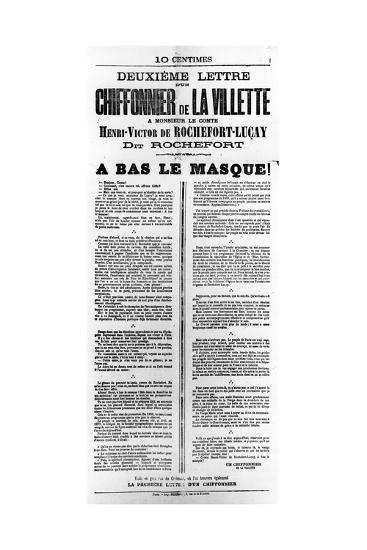 Chiffonnier De La Villette, from French Political Posters of the Paris Commune, May 1871--Giclee Print