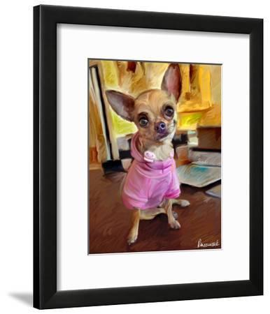 Chihuahua Bella-Robert Mcclintock-Framed Art Print