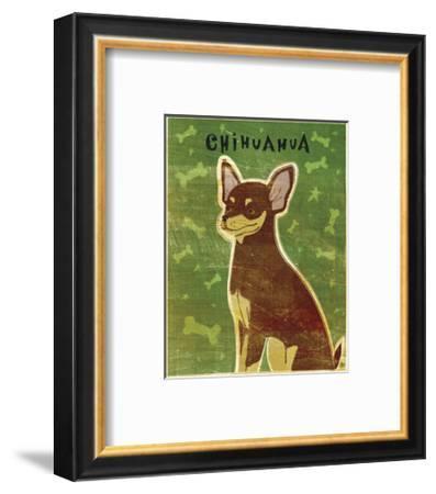 Chihuahua (chocolate and tan)-John W^ Golden-Framed Art Print