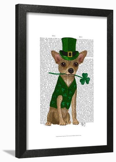 Chihuahua Leprechaun-Fab Funky-Framed Art Print