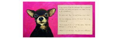 Chihuahua with a Blind Man in a Restaurant-Cathy Cute-Giclee Print
