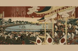 Horse Race at Ueno Park by Chikanobu