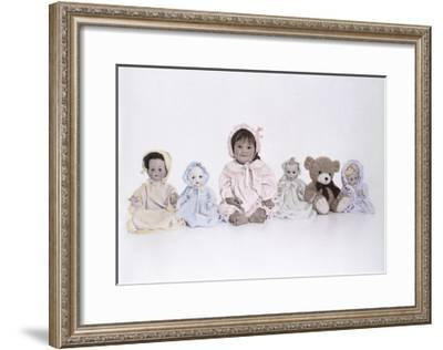 Child and Dog Wrapped in Towel-Nora Hernandez-Framed Giclee Print
