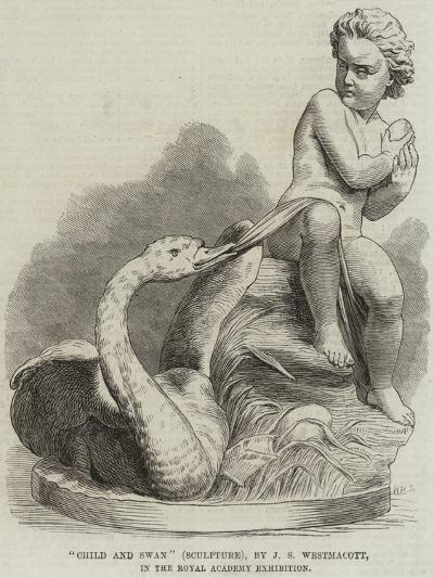 Child and Swan (Sculpture), by J S Westmacott, in the Royal Academy Exhibition--Giclee Print