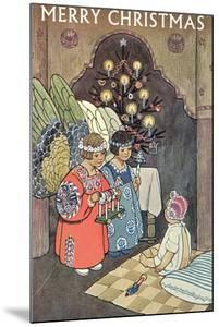 Child Angels Visiting Infant