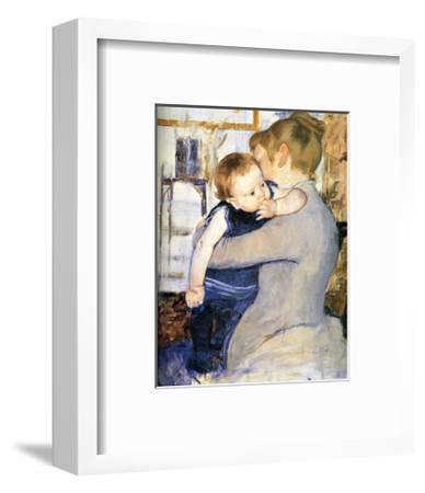 Child in Blue-Mary Cassatt-Framed Giclee Print