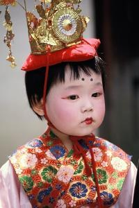 Child in Costume, Kyoto, Japan