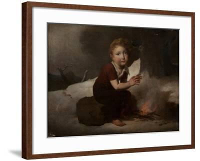 Child in the Snow--Framed Giclee Print