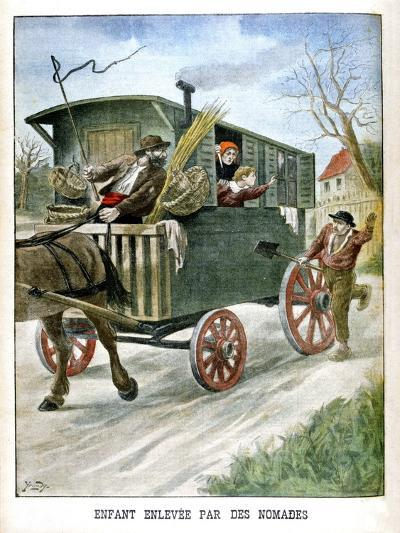 Child Kidnapped by Gypsies, 1902--Giclee Print