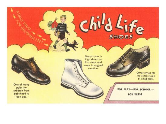 Child Life Shoes--Art Print