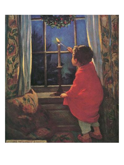 Child Lighting Candle-Jessie Willcox-Smith-Giclee Print