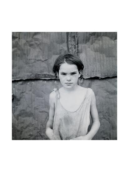Child Living in Oklahoma City Shacktown-Dorothea Lange-Art Print