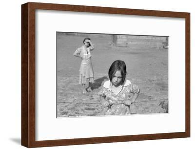 Child of a Rehab Client-Dorothea Lange-Framed Art Print
