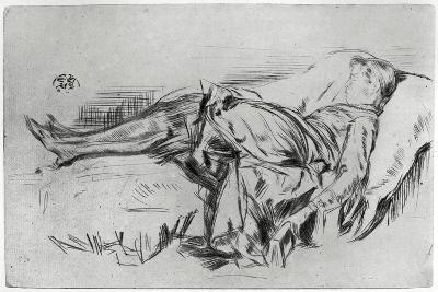 Child on a Couch, 19th Century-James Abbott McNeill Whistler-Giclee Print