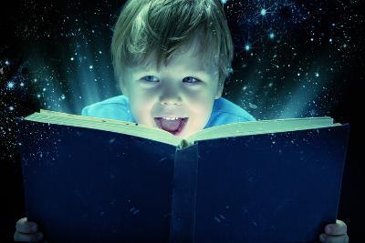 Child Opened a Magic Book-conrado-Photographic Print